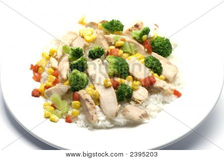 Chicken Breast Slices With Vegetables