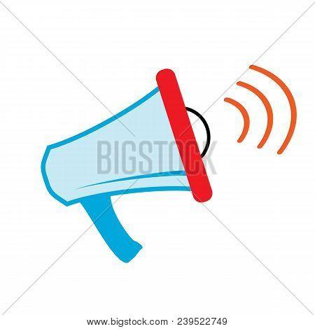 Vector Isolated Loudspeaker - Icon Speaker, Megaphone Illustration, Announcement Symbol