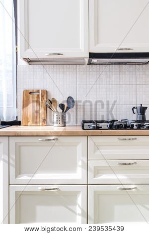 Interior Of Modern Luxury Kitchen In Private House