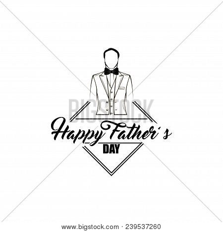 Fathers Day Card. Bow Tie, Tuxedo, Elegant Costume. Happy Fathers Day Greeting Card. Dad Gift. Dads