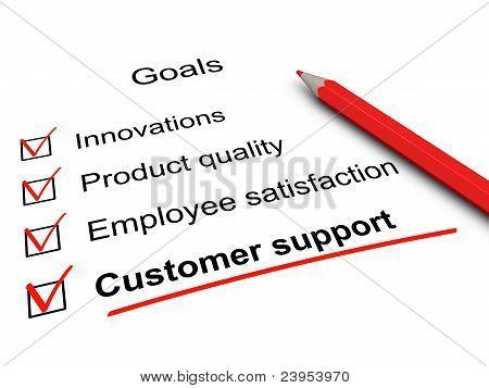 Customer Support Checklist. Key Goals In Business