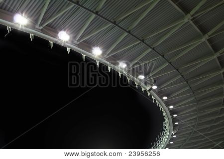 Stadium Roof At Night