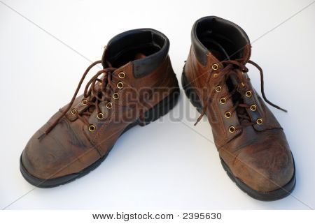 Mens Brown Work Boots