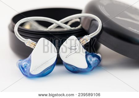 Springfield, Or - May 3, 2018: Custom In Ear Monitors By Jerry Harvey Or Jh Audio For A Musician To