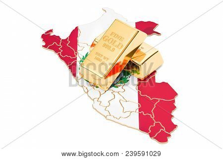 Foreign-exchange Reserves Of Peru Concept, 3d Rendering Isolated On White Background