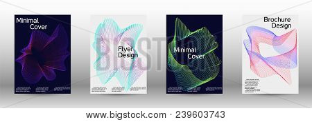 Modern Design Template. A Set Of Modern Abstract Covers. Creative Sound Backgrounds From Abstract Gr