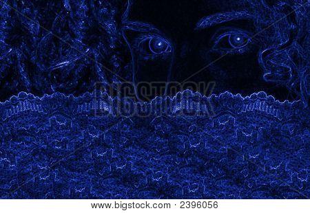 Blue Digital Portrait