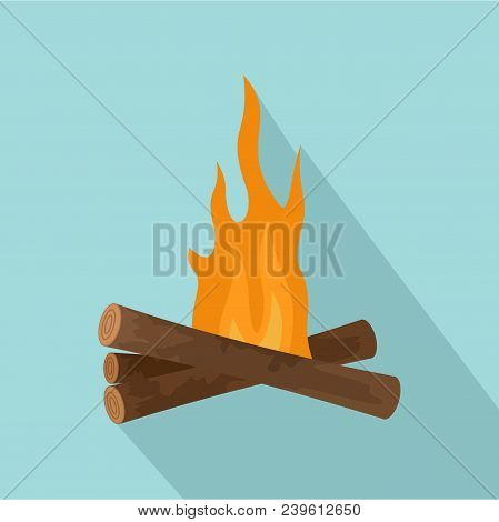 Start Fire Camp Icon. Flat Illustration Of Start Fire Camp Vector Icon For Web Design