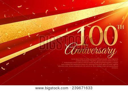 100th Anniversary Celebration Card Template Vector Design