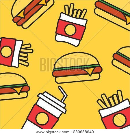 Fast Food Set Vector Vector Photo Free Trial Bigstock