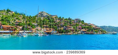 Kalekoy, Turkey - May 5, 2017: Kalekoy Is Nice Place To Visit During The Trip Around Kekova Bay, Her