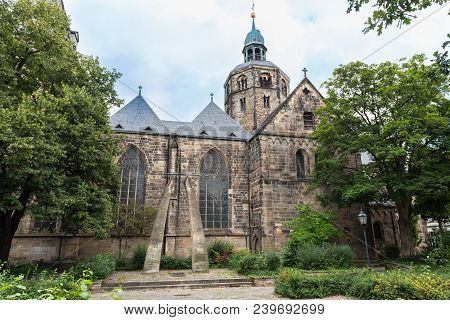 Minster St. Boniface In The Old Town Of Hameln