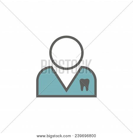 Dentist Generic Icon W Dental Images, Man Or Woman Nondescript - With Tooth Icon