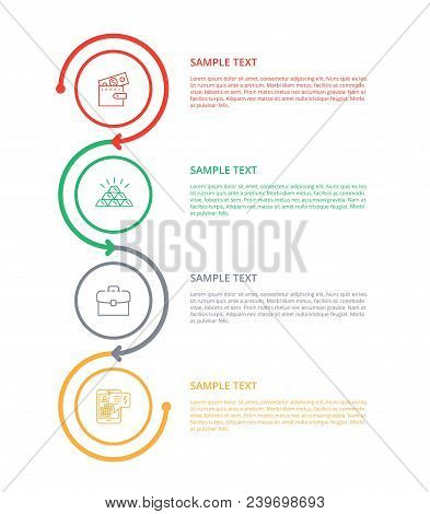 Text Sample With Varied Labels Colorful Poster, Vector Illustration Isolated On White Background, Co