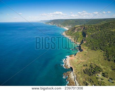 Aerial View Of Rugged Coastline Near Grand Pacific Drive, Sydney, Australia