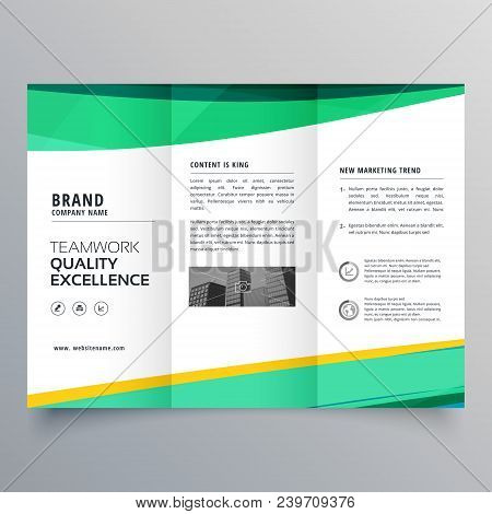 creative trifold brochure design template for your business poster