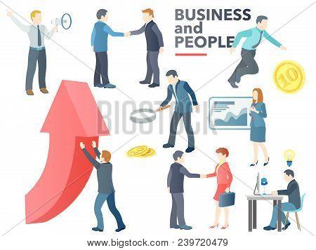 Business People Working. Business Process. Conversation, Transactions, Pr, New Ideas, Presentation,