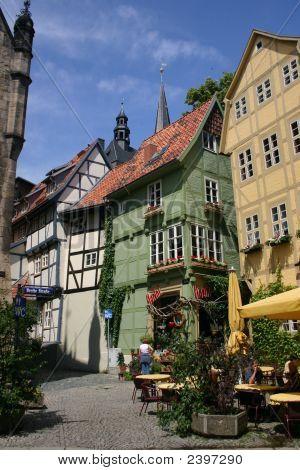 Half Timbered Houses In Quedlinburg