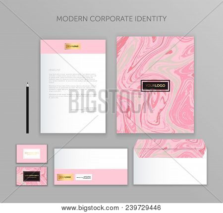 Corporate Identity Business Set. Modern Stationery Template Design. Documentation For Business.set O