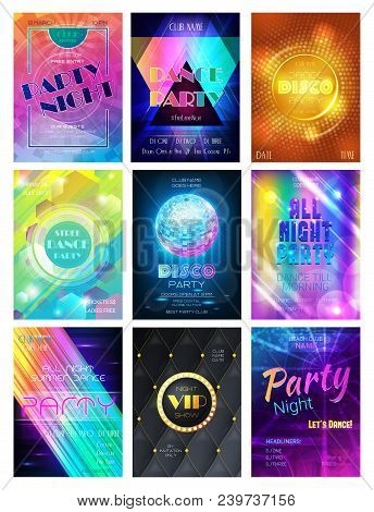 Party Vector Pattern Disco Club Or Nightclub Poster Background And Night Clubbing Or Nightlife Backd