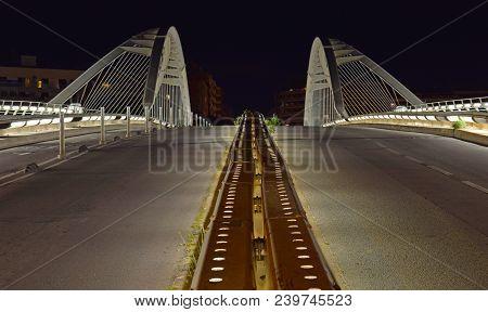 Calatrava Bridge, Bridge, Roads, Bridge Artificial Lighting, Traffic, Footbridge, Bridge Over Tram,