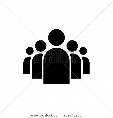 Group Icon Vector In Modern Flat Style For Web, Graphic And Mobile Design. Group Icon Vector Isolate