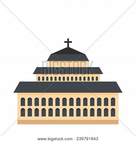 Tall Church Icon. Flat Illustration Of Tall Church Vector Icon For Web