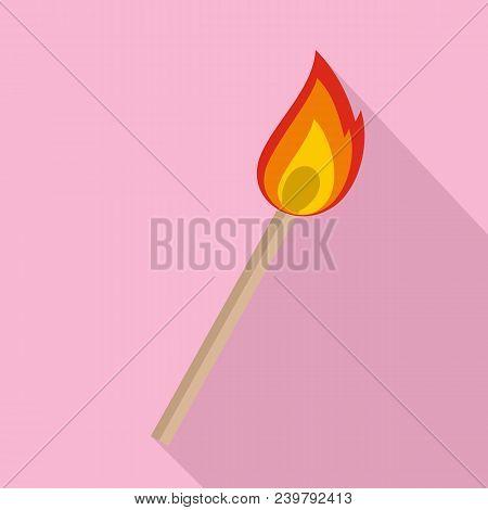 Burning Matche Icon. Flat Illustration Of Burning Matche Vector Icon For Web Design