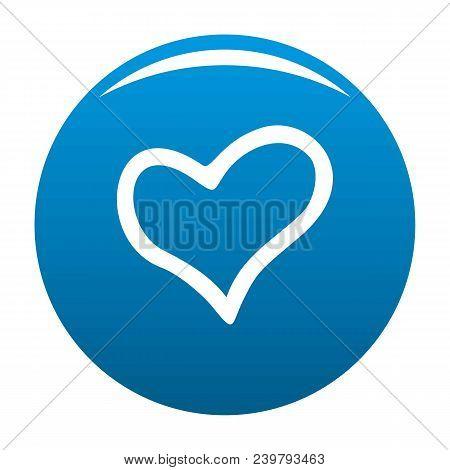 Faithful Heart Icon. Simple Illustration Of Faithful Heart Vector Icon For Any Design Blue