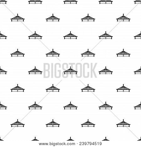 Millau Viaduct Bridge Pattern Vector Seamless Repeating For Any Web Design