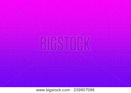 Pixel Pattern Background In Pink, Purple Color. 8 Bit Video Game Vector Illustration. Abstract Halft