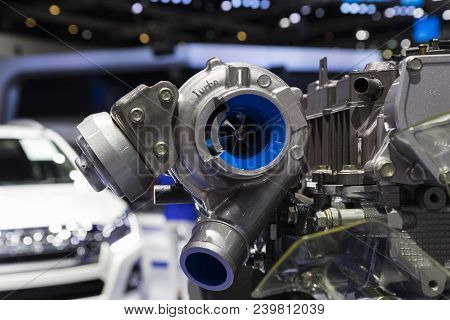 Turbo Charger In Diesel Engine ; Powertain ; Pickup Truck