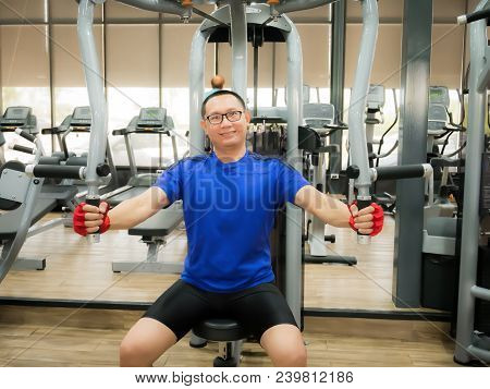 Training Arm Equipment In The Gym