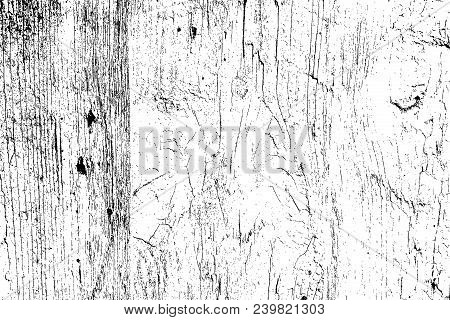 Wooden Dry Planks Distressed Overlay Texture With Knot. Grunge Old Wood Black Cover Template. Weathe