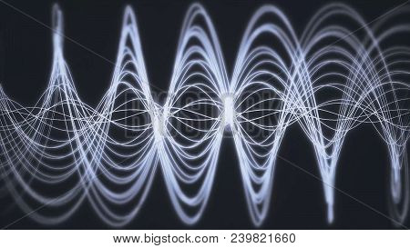 Seamless Background Animation Of Abstract Wave Form. Flowing Streaks. Motion Graphic And Animation B