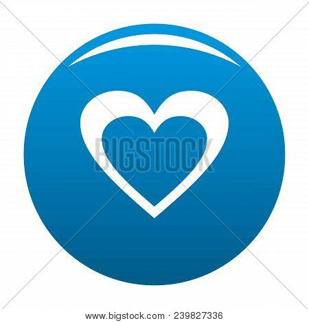 Huge Heart Icon. Simple Illustration Of Huge Heart Vector Icon For Any Design Blue