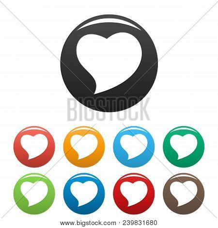 Brave Heart Icon. Simple Illustration Of Brave Heart Vector Icons Set Color Isolated On White