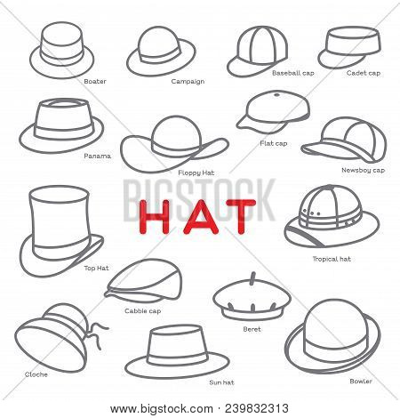 Different Styles Hat Vector & Photo (Free Trial) | Bigstock