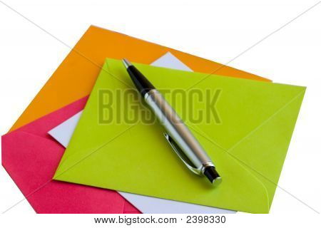Colorful Note Cards And Envelopes
