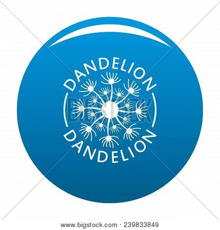 Delicate Dandelion Logo Icon. Simple Illustration Of Delicate Dandelion Vector Icon For Any Design B