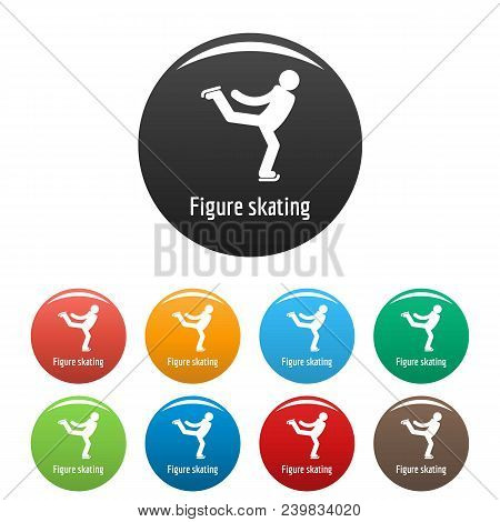 Figure Skating Icon. Simple Illustration Of Figure Skating Vector Icons Set Color Isolated On White