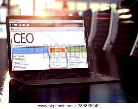 Ceo, Chief Executive Officer - Get A New Employment Here. Head Hunting Concept. 3d Rendering.