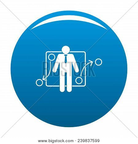 One Businessman Icon. Simple Illustration Of One Businessman Vector Icon For Any Design Blue