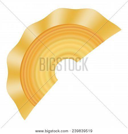Creste Di Gallo Pasta Icon. Realistic Illustration Of Creste Di Gallo Pasta Vector Icon For Web Desi