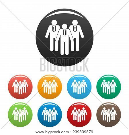 Board Directors Icon. Simple Illustration Of Board Directors Vector Icons Set Color Isolated On Whit