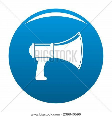 Noise Of Megaphone Icon. Simple Illustration Of Noise Of Megaphone Vector Icon For Any Design Blue