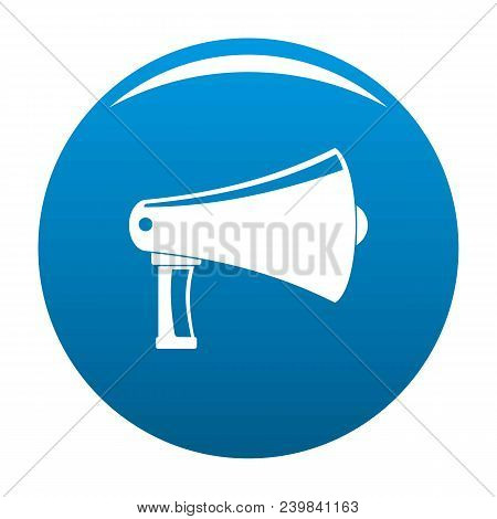 Vintage Megaphone Icon. Simple Illustration Of Vintage Megaphone Vector Icon For Any Design Blue