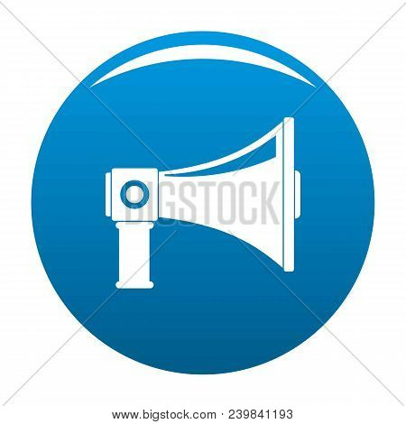 Single Megaphone Icon. Simple Illustration Of Single Megaphone Vector Icon For Any Design Blue