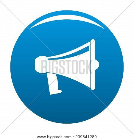 Antique Megaphone Icon. Flat Illustration Of Antique Megaphone Vector Icon For Any Design Blue