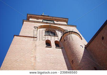 A Church Tower In Downtown Falun In Dalarna